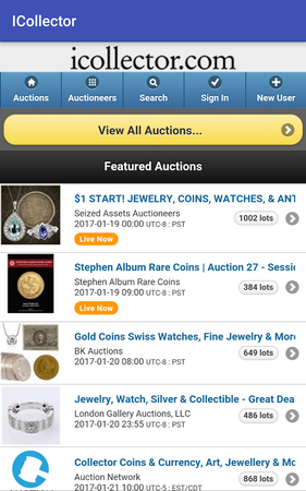 Live Auction Software featured auctions