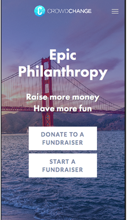 CrowdChange donate or start a fundraiser