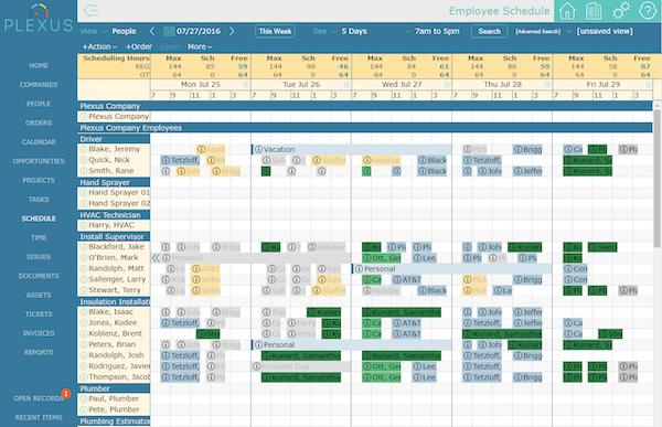 Plexus job scheduling