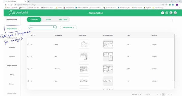 Canibuild cataloging