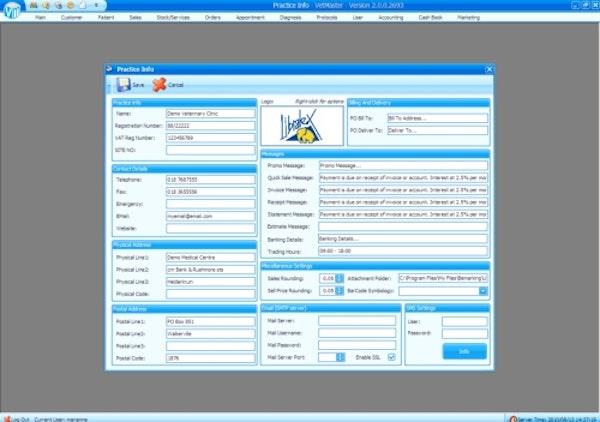 Vetmaster practice information