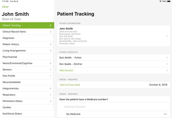 CAH-C patient tracking