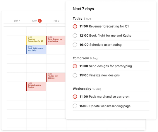 Todoist calendar integration