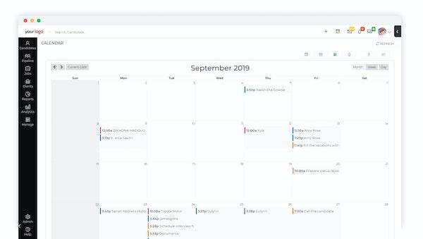 iSmartRecruit Calendar