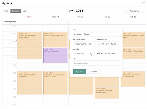 Atolia calendar management
