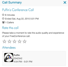 FreeConference call summary