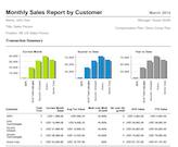 CallidusCloud monthly sales report