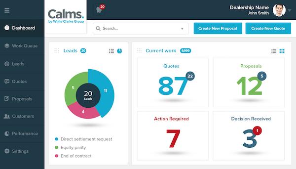 CALMS dashboard screenshot