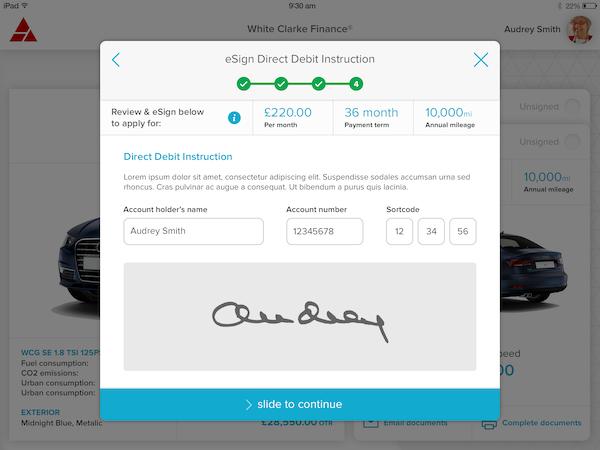 CALMS e-sign screenshot