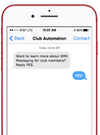 Club Automation messaging screenshot