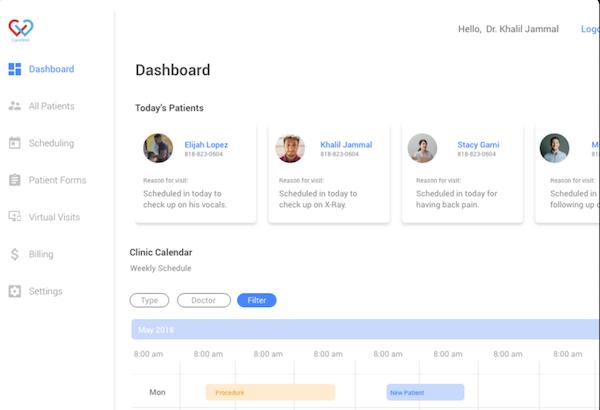 Ambula EMR cloud-based dashboard
