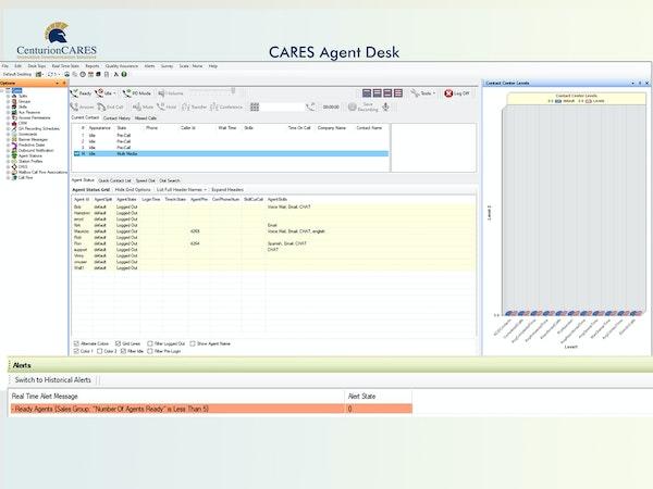 CARES Agent Desk
