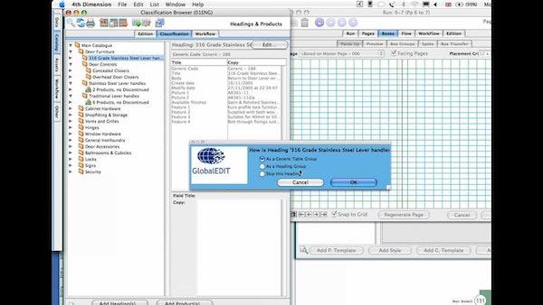 Catalog production dashboard