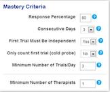 Catalyst mastery criteria