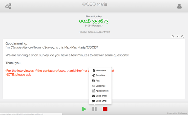 Voice surveys