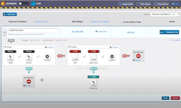 CCBill payment flow creation