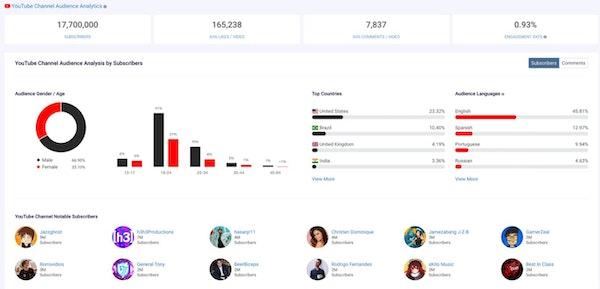 Chartmetric audience analytics
