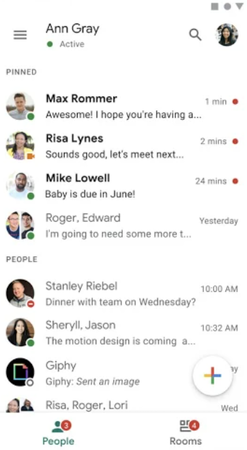 Google Chat inbox