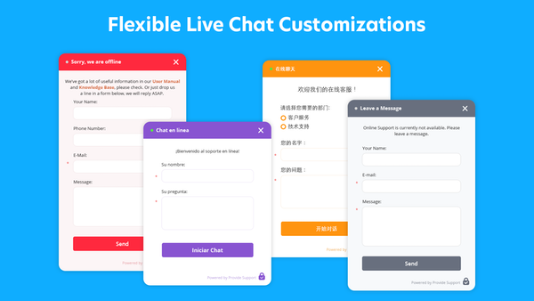 Provide Support live chat customization