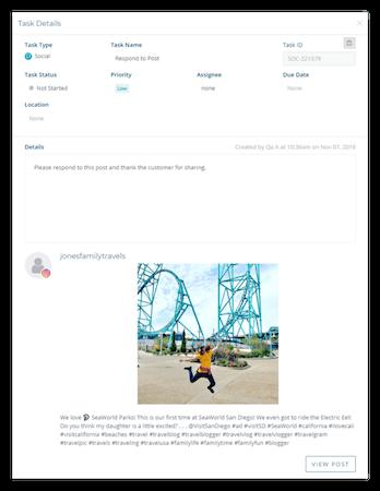 Chatmeter task details