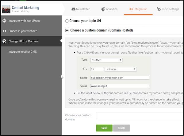 Choosing a custom domain