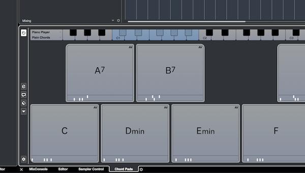 Cubase chord pads