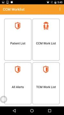 Navigate to patient lists and worklists in the Chronic Watch app