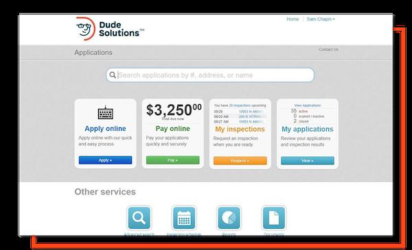 SmartGov citizen portal screenshot
