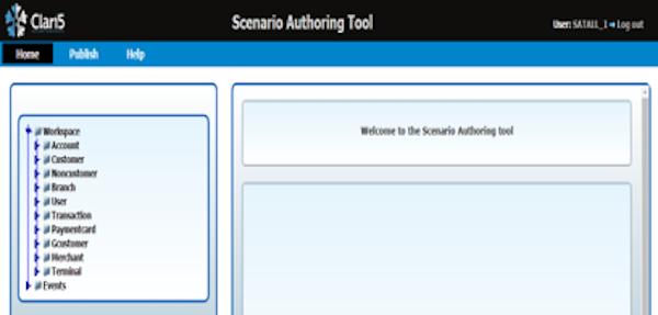 Clari5 EFM scenario authoring tool