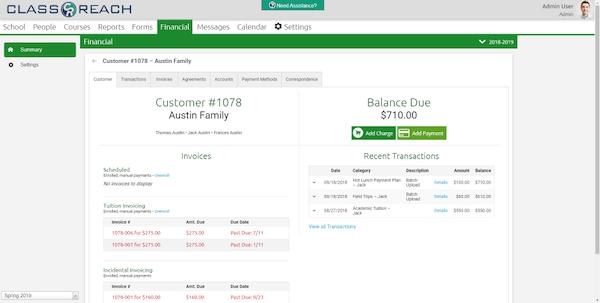 ClassReach financial information