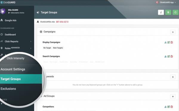 ClickGUARD target groups