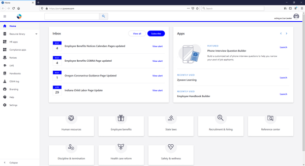 safety360 client portal home