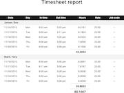 Clockspot timesheet report