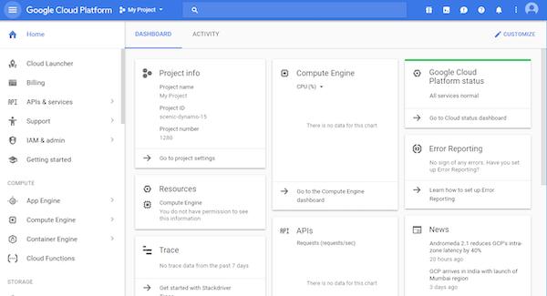 Google Cloud Platform project information