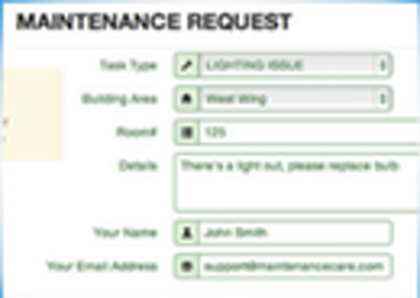 Maintenance Care Work order
