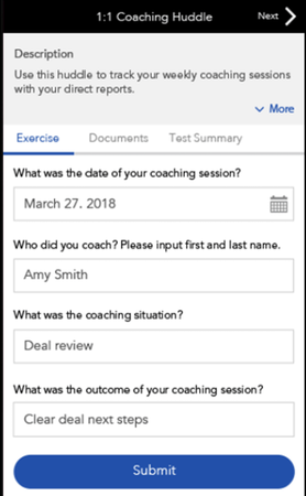 SalesHood one-on-one coaching screenshot