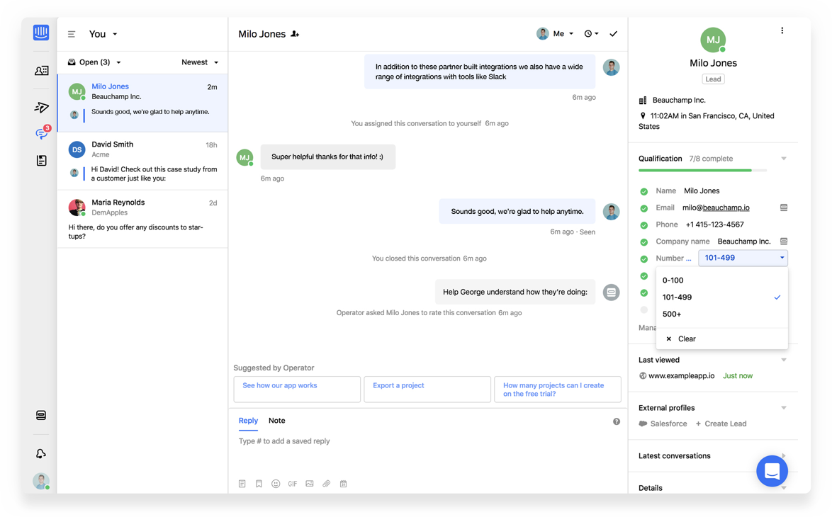 Intercom - Intercom collaboration screenshot