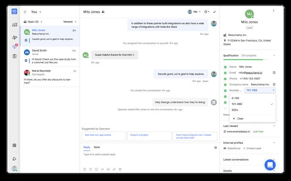 Intercom collaboration screenshot
