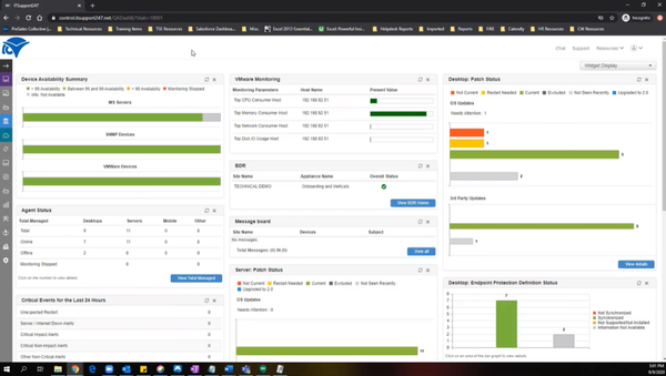 ConnectWise Command dashboard