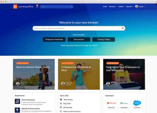 Communifire homepage