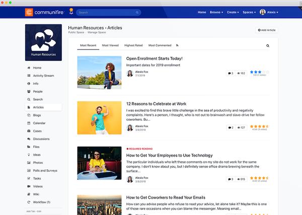 Communifire human resource articles