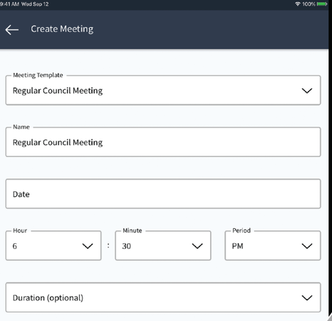 Community meeting details