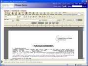 Constellation CRM contract writer - agreements