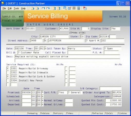 Service Billing