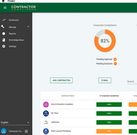 Contractor Compliance dashboard