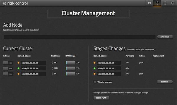 Riak KV cluster management