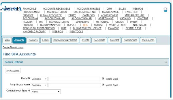 CREST SFA account management