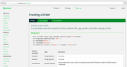 Qminder creating ticket