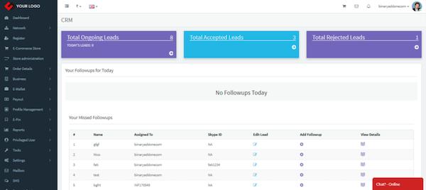 Infinite MLM lead management portal