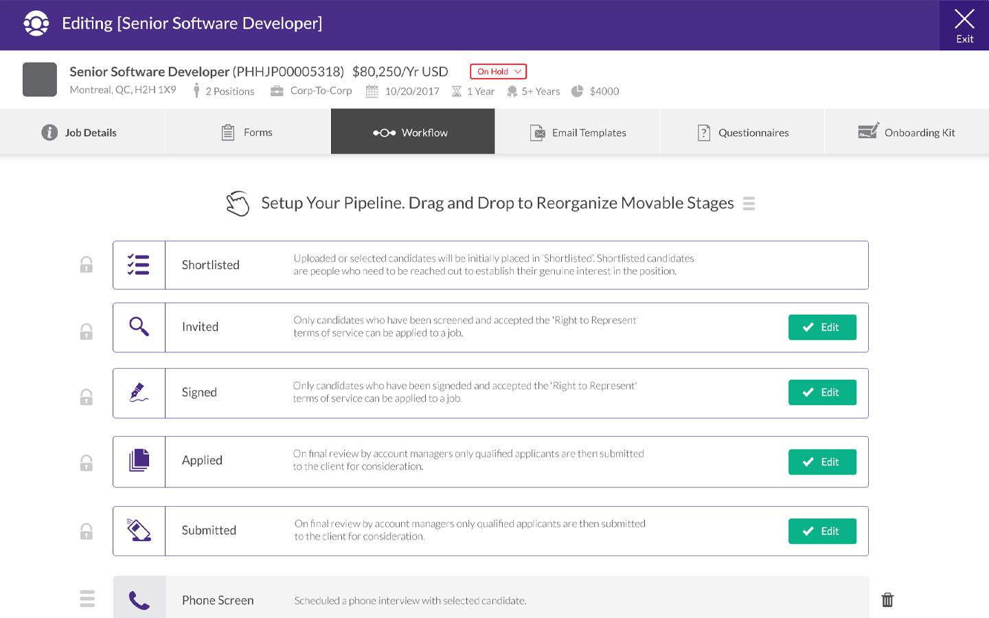 Customizable pipeline and collaboration tools